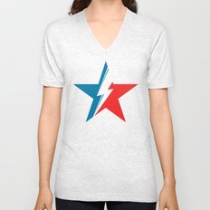 Bowie Star black Unisex V-Neck