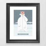 Polar-fleece-bear Framed Art Print