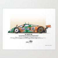 Mazda 787B - 1991 Herber… Art Print