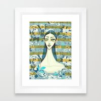 flowerella 2 Framed Art Print