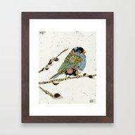 Cafe Swirly Bird 4 Framed Art Print