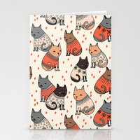 Sweater Cats - by Andrea Lauren Stationery Cards
