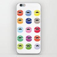 mustache macarons iPhone & iPod Skin