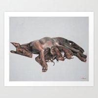 Moira And The Eleven Dwa… Art Print