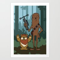 EP6 : Chewbacca & Widdle Art Print