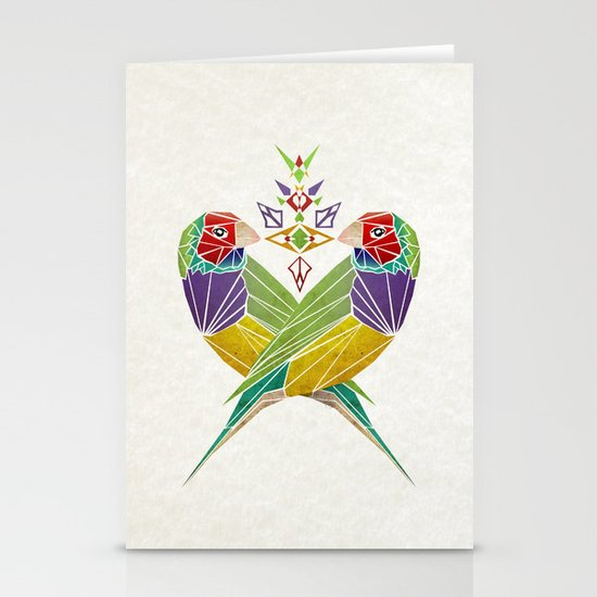 colors birds Stationery Card