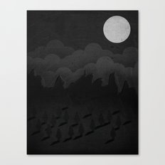 A night in the woods Canvas Print