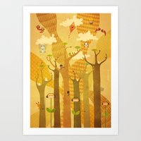 Musical Trees Art Print