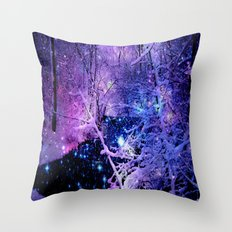 Cosmic River Galaxy Fore… Throw Pillow