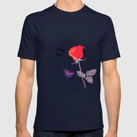 Wink | Floral Mens Fitted Tee Navy SMALL