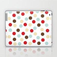 Christmas dots white Laptop & iPad Skin