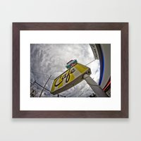 Double R Diner Sign In T… Framed Art Print