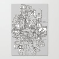 Interlocking Lives, Line… Canvas Print