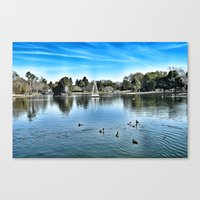 Canvas Print featuring Day at the Lake by Christine Workman