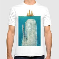 The Whale  Mens Fitted Tee White SMALL