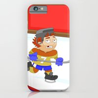iPhone & iPod Case featuring Winter Sports: Ice Hockey by Alapapaju