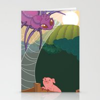 The Spider And The Pig Stationery Cards