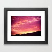 Blaze Framed Art Print