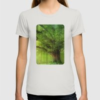 Family Tree Womens Fitted Tee Silver SMALL