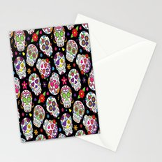 Colorful Sugar Skulls Stationery Cards