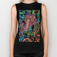 Abstract Mermaid Biker Tank