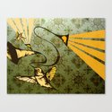 analog zine - song bird Canvas Print