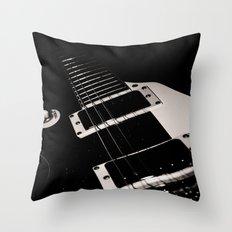Pop Art Guitar Throw Pillow
