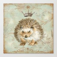 The Angry  Hedgehog Canvas Print