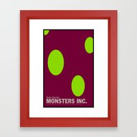 Monsters Inc. | Minimal Movie Poster Framed Art Print