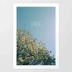 Renew Art Print