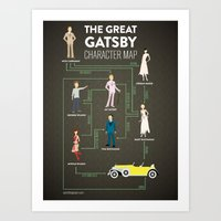 The Great Gatsby Charact… Art Print