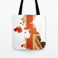 Union Jack Map - Olympics London 2012 Tote Bag
