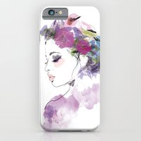 iPhone & iPod Case featuring Like a bird by Lorène Russo illustration