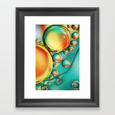 Oil and Water Wave Framed Art Print