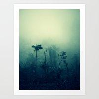 Blue Forest Art Print