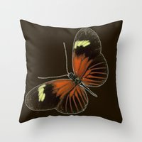 Untitled Butterfly Throw Pillow