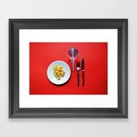 Primary Colours : Breakf… Framed Art Print