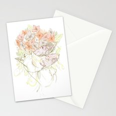There's a Feeling In My Chest That Wants to Glide Like Leaves, and Set Like Fires 1/2 Stationery Cards
