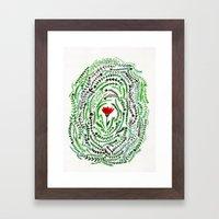 Pretty flower Framed Art Print