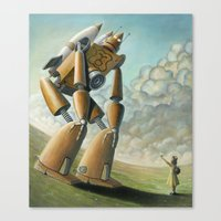 Robot Dilemma Canvas Print