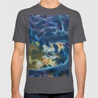 Abstract coralline algae in rock pool on beach in Queensland Mens Fitted Tee Asphalt SMALL