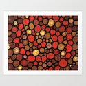 Lovers -Warm Earthy Mosaic Painting by Labor of Love artist Sharon Cummings. Art Print