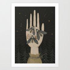 dead head moth Art Print