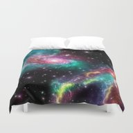 Colorful Nebula 080615 Duvet Cover