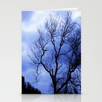 Blue Trees  - JUSTART © Stationery Cards