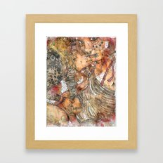 Spew All Over You Framed Art Print