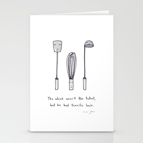 the whisk wasn't the tallest Stationery Card