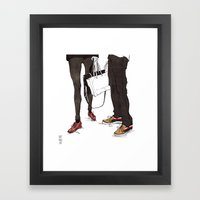 Mismatched, But Not Incompatible by Kat Mills Framed Art Print