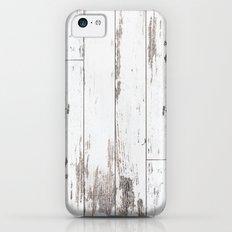White Wood Slim Case iPhone 5c