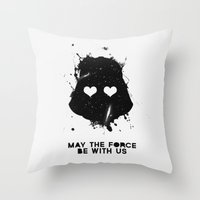 may the force be with us Throw Pillow